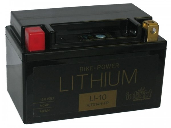 Intact Bike Power Lithium - LI-10 MoBa 12,8 V 4 AH (c10), 48 Wh 240 A (CCA), HJTX14H