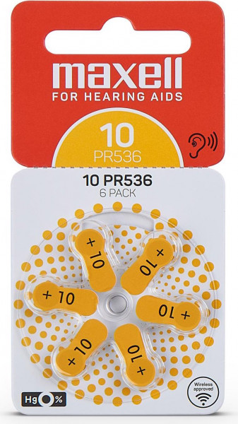 Maxell 6x 10 hearing aid battery