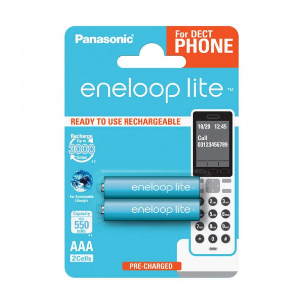 Panasonic Eneloop Lite 2x AAA 550mAh DECT
