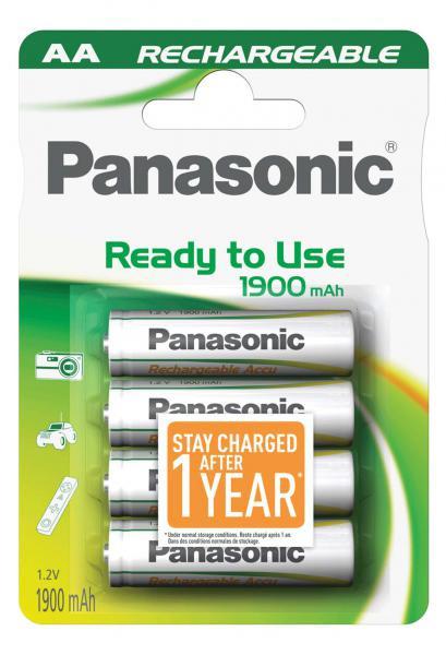 Panasonic Akku 4x LR6 (AA) 1900mAh
