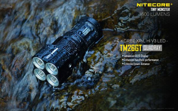 Nitecore Taschenlampe TM26GT Quadray