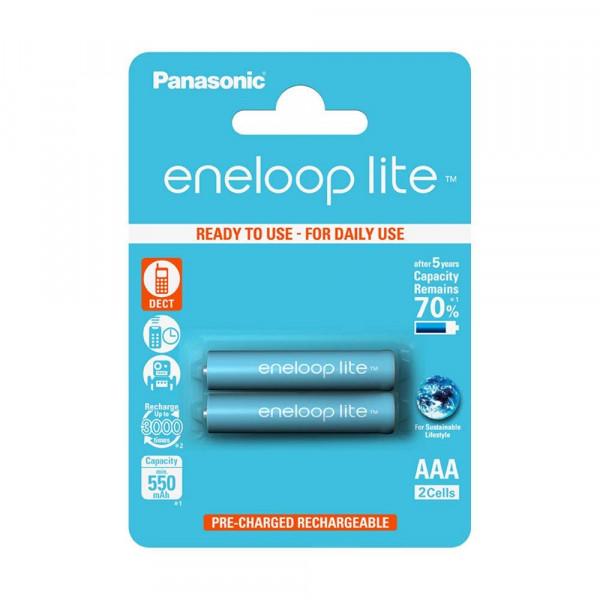 Panasonic Eneloop Lite 2x AAA 550mAh