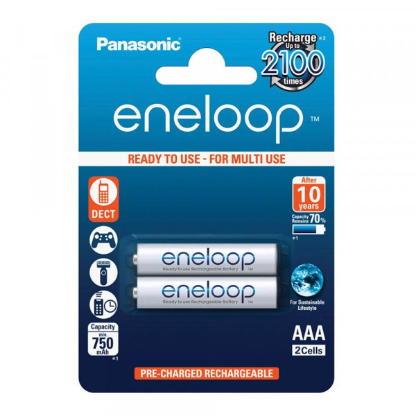 Panasonic Eneloop 2x AAA 750mAh