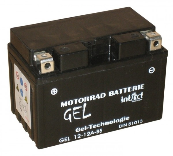 Intact Bike Power Gel - GEL12-12A-BS MoBa 12 V 10 AH (c20) 210 A (EN), YTX12A-BS, 51013