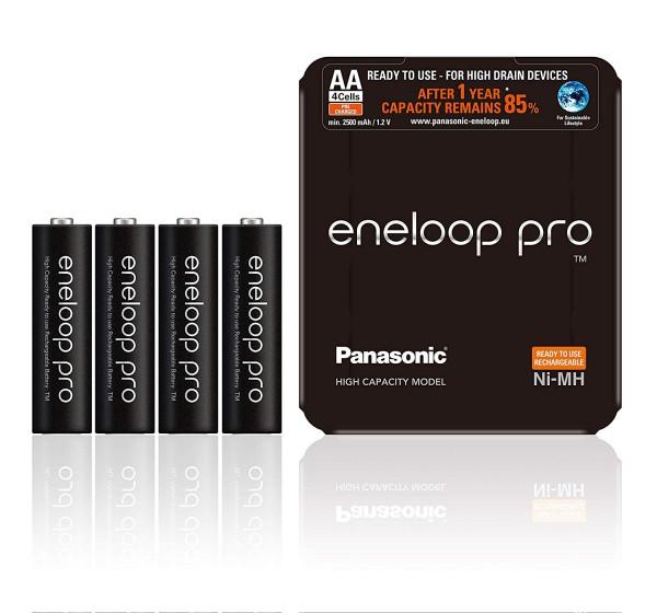 Panasonic Eneloop Pro 4x AA 2500mAh -Sliding Pack