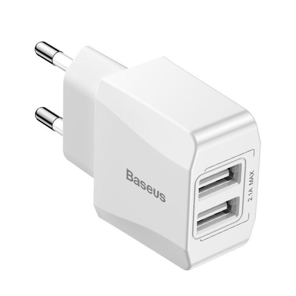 Baseus Mini Charger 2x USB White