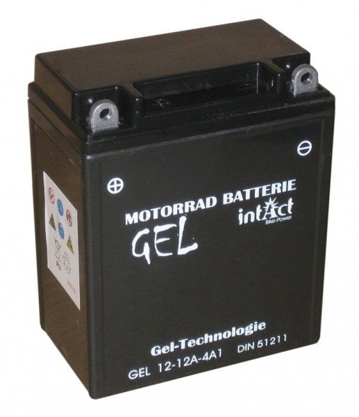 Intact Bike Power Gel - GEL12-12A-4A1 MoBa 12 V 12 AH (c20) 210 A (EN), 12N12A-4A-1, 512