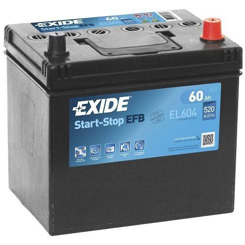 Exide Start-Stop EFB 12 V 60 AH (c20) 520 A (EN)  GUG
