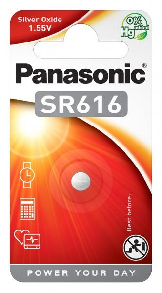 Panasonic SR616 (Silberoxid/Uhrenbatterien)