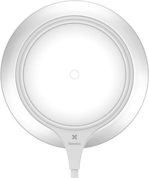 Baseus Metal Qi Wireless Charger White-Silver