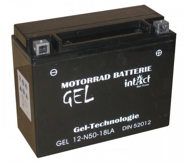 Intact Bike Power Gel - GEL12-N50-18L-A MoBa 12 V 20 AH (c20) 300 A (EN), Y50-N18L-A, 5201
