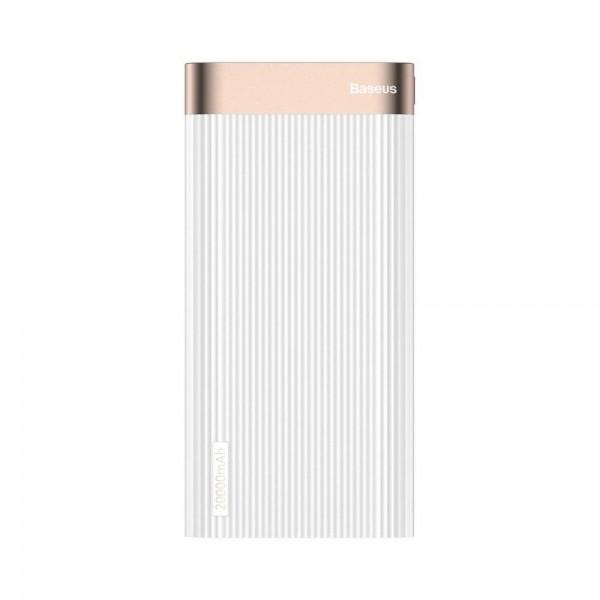 Baseus Parallel Type-C PD +QC3.0 power bank 20000mAh 18W White