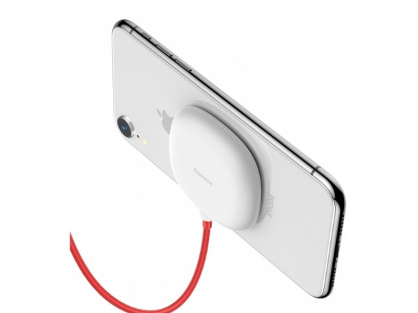 Baseus Suction Cup Wireless Charger White