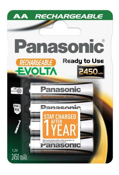 Panasonic Evolta Akku 4x LR6 (AA) 2450mAh