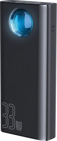 Baseus Amblight Quick Charge &large power digital display power bank 33W 30000mAh Black