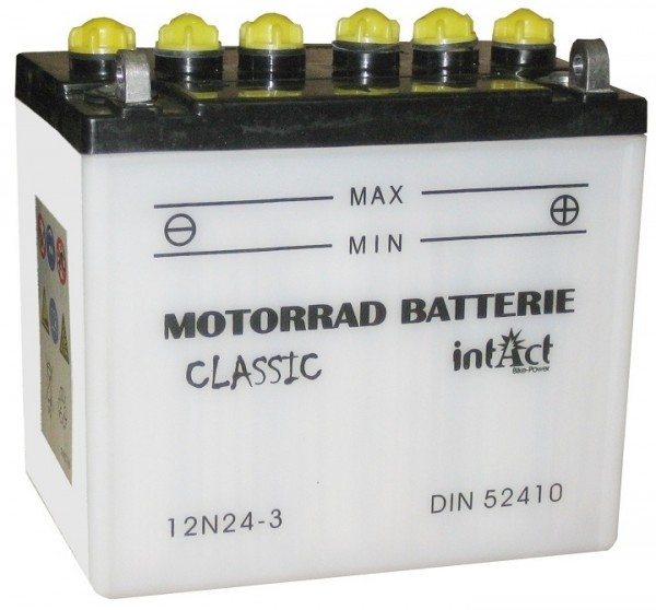 Intact Bike Power Classic - 52410S MoBa 12 V 24 AH (c20) 220 A (EN), 12N24-3