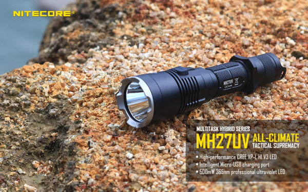 Nitecore LED-Taschenlampe MH27UV