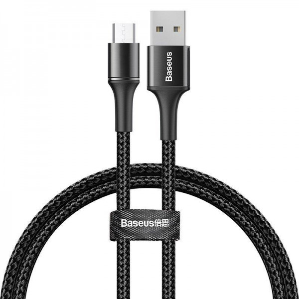 Baseus halo data cable USB For Micro 3A 0.5m Black