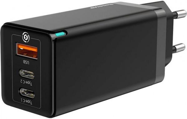 Baseus GaN Laptop Charger C+C+A 65W Black