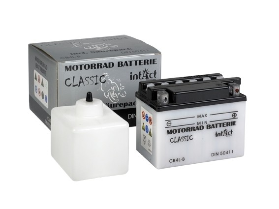 Intact Bike Power Classic - 50411S MoBa 12 V 4 AH (c20) 20 A (EN), CB4L-B  +SP