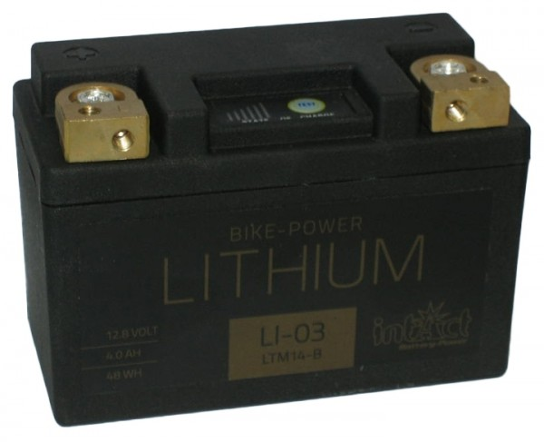 Intact Bike Power Lithium - LI-03 MoBa 12,8 V 4 AH (c10), 48 Wh 240 A (CCA), LTM14-B