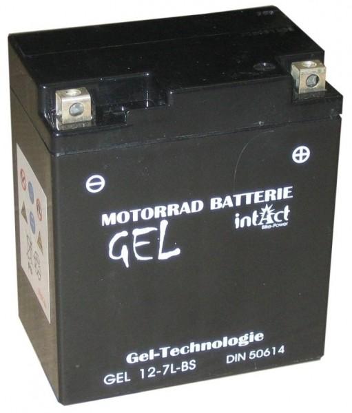 Intact Bike Power Gel - GEL12-7L-BS MoBa 12 V 6 AH (c20) 120 A (EN), YTX7L-BS, 50614