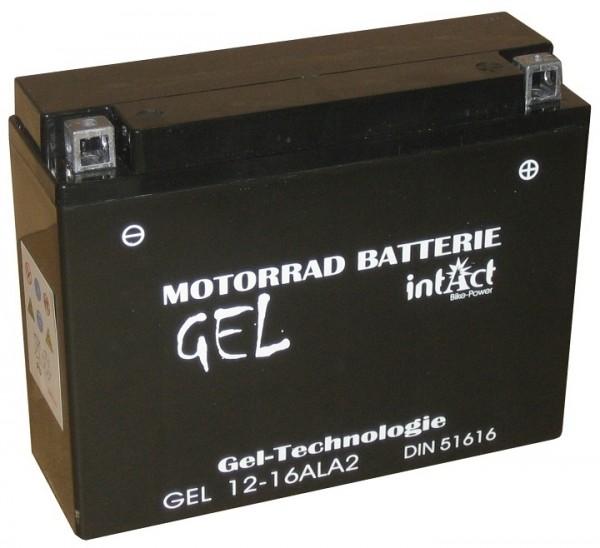 Intact Bike Power Gel - GEL12-16AL-A2 MoBa 12 V 16 AH (c20) 280 A (EN), YB16AL-A2, 51616