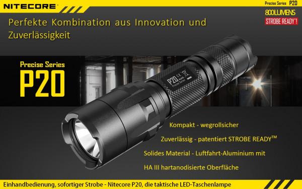 Nitecore LED-Taschenlampe P20