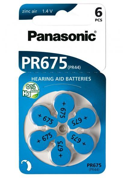 Panasonic Zinc-Air 60x PR675 (PR44) (Hörgeräte/Hearing Aid)