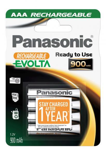 Panasonic Evolta Akku 4x LR03 (AAA) 900mAh