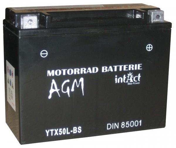 Intact Bike Power AGM - YTX50L-BS MoBa 12 V 21 AH (c20) 290 A (EN), YTX50L-BS