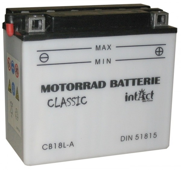 Intact Bike Power Classic - 51815S MoBa 12 V 18 AH (c20) 170 A (EN), CB18L-A