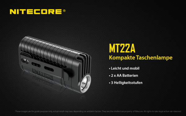 Nitecore LED-Taschenlampe MT22A