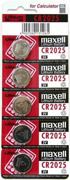 Maxell 5x CR2025