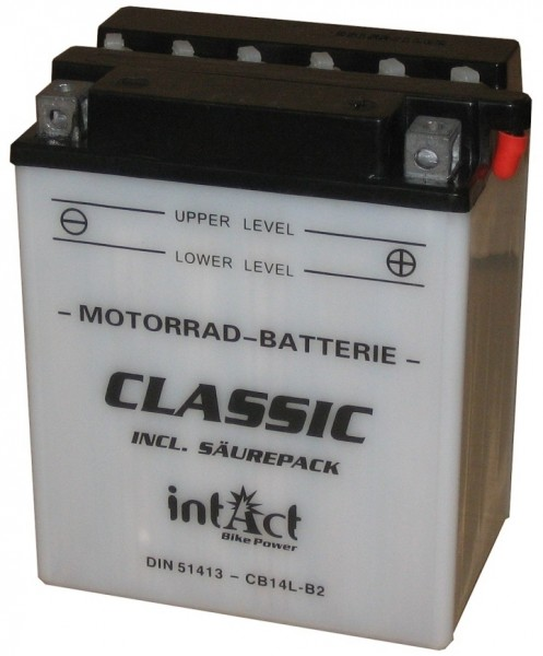 Intact Bike Power Classic - 51413S MoBa 12 V 14 AH (c20) 140 A (EN), CB14L-B2