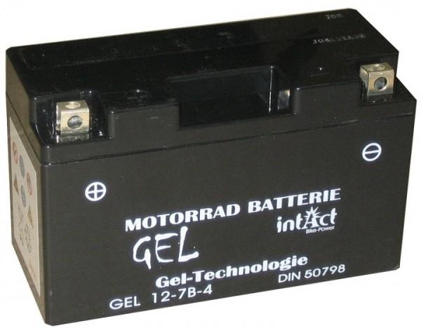 Intact Bike Power Gel - GEL12-7B-4 MoBa 12 V 6 AH (c20) 120 A (EN), YT7B-4, GT7B-4