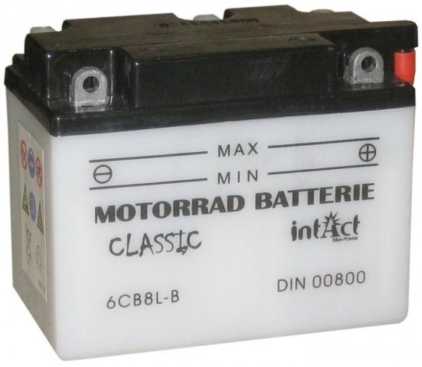 Intact Bike Power Classic - 00800S MoBa 6 V 8 AH (c20) 50 A (EN), 6YB8-3B, 6YB8L-B  +