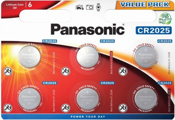 Panasonic Lithium Power 6x CR2025