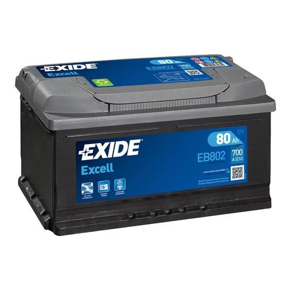Exide Excell 12 V 80 AH (c20) 700 A (EN)  GUG