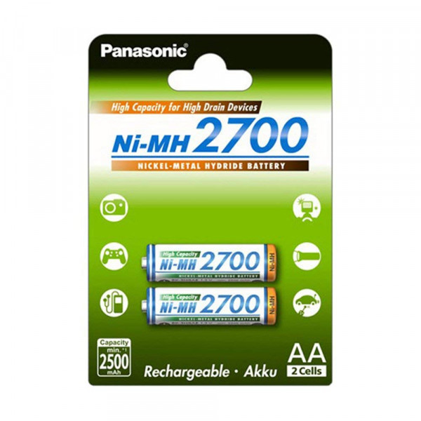 Panasonic Akku High Capacity 2x AA 2500mAh
