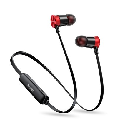 Baseus Encok Sports Wireless Earphone S07 Red+black