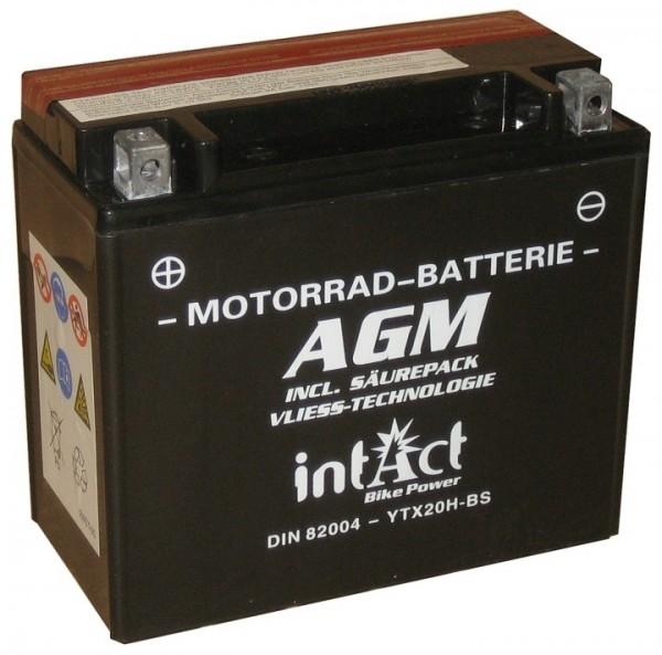 Intact Bike Power AGM - YTX20H-BS MoBa 12 V 18 AH (c20) 310 A (EN), YTX20H-BS