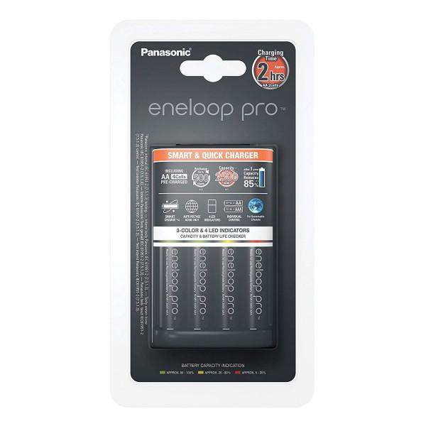 Panasonic Eneloop Smart & Quick Charger incl. 4x AA 2500mAh