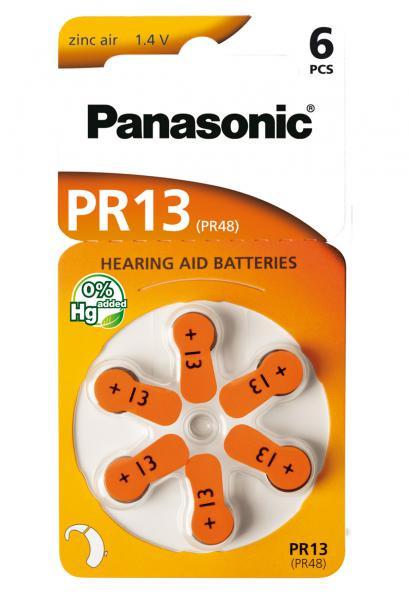 Panasonic Zinc-Air 6x PR13 (PR48) (Hörgeräte/Hearing Aid)