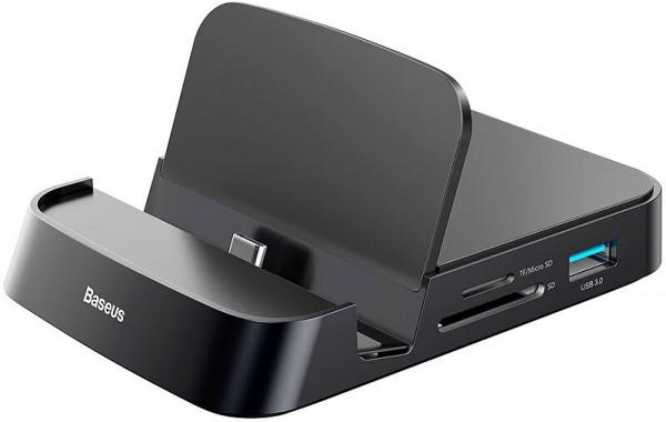 Baseus Mate Docking Type-C mobile phone intelligent HUB DeX docking station Black