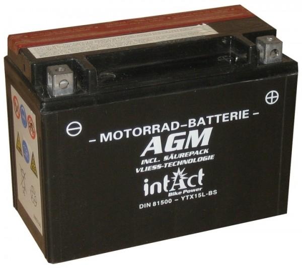 Intact Bike Power AGM - YTX15L-BS MoBa 12 V 13 AH (c20) 140 A (EN), YTX15L-BS