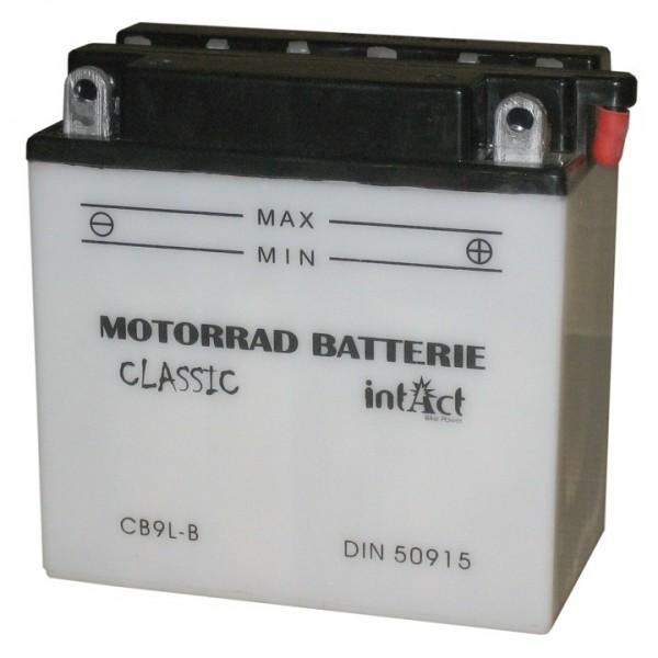 Intact Bike Power Classic - 50915S MoBa 12 V 9 AH (c20) 80 A (EN), CB9L-B  +SP