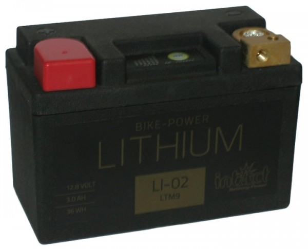 Intact Bike Power Lithium - LI-02 MoBa 12,8 V 3 AH (c10), 36 Wh 180 A (CCA), LTM9