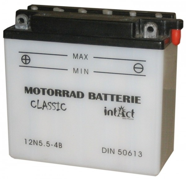 Intact Bike Power Classic - 50613S MoBa 12 V 5,5 AH (c20) 40 A (EN), 12N5.5-4B  +SP