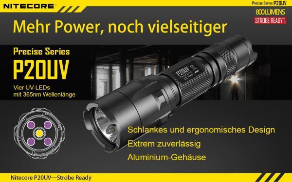 Nitecore LED-Taschenlampe P20UV
